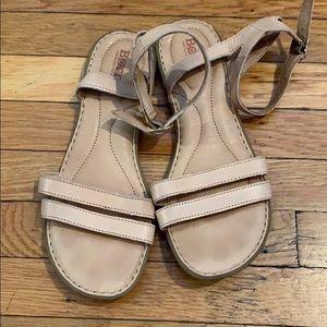 Born Tan Strappy Sandals - Size 8